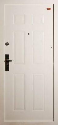 Fehér Hi Sec biztonsági ajtó bérházba