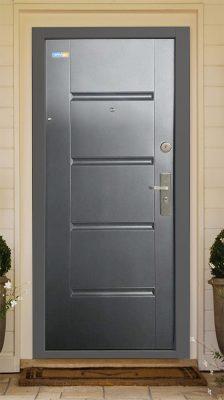 Antracit TerraSec kültéri biztonsági ajtó - Luxury Line mintával, Selyemfényű
