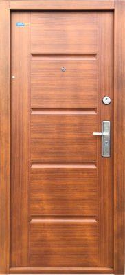 Aranytölgy TerraSec biztonsági ajtó bérházba - Luxury Line mintával, Selyemfényű