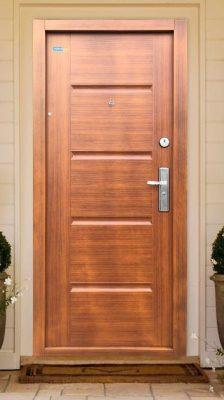 Aranytölgy TerraSec kültéri biztonsági ajtó  - Luxury Line mintával, Selyemfényű