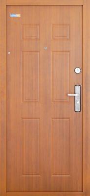Aranytölgy TerraSec biztonsági ajtó bérházba - Classic Line mintával, Selyemfényű