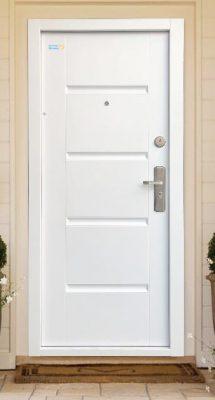 Fehér TerraSec kültéri biztonsági ajtó  - Luxury Line mintával, Selyemfényű